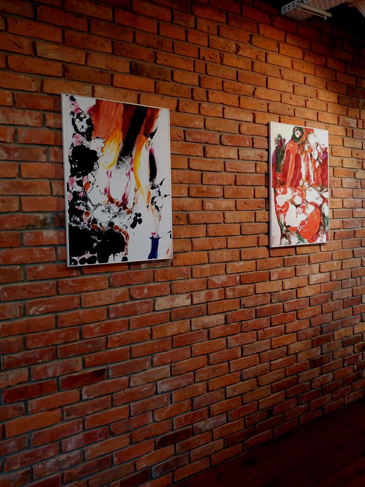 Eva Davis informel painting
