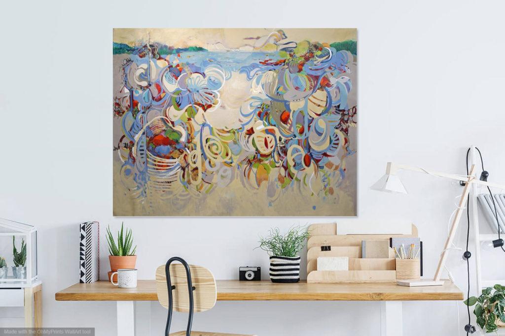 Barbara Krupp extra large painting