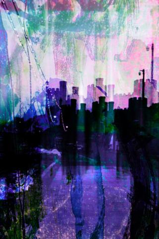 photograph, ink, print, tissue paper, watercolour paint, digital manipulation
