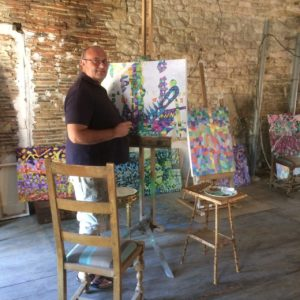 David Car in the studio
