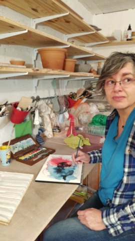 Valeire Page in her studio