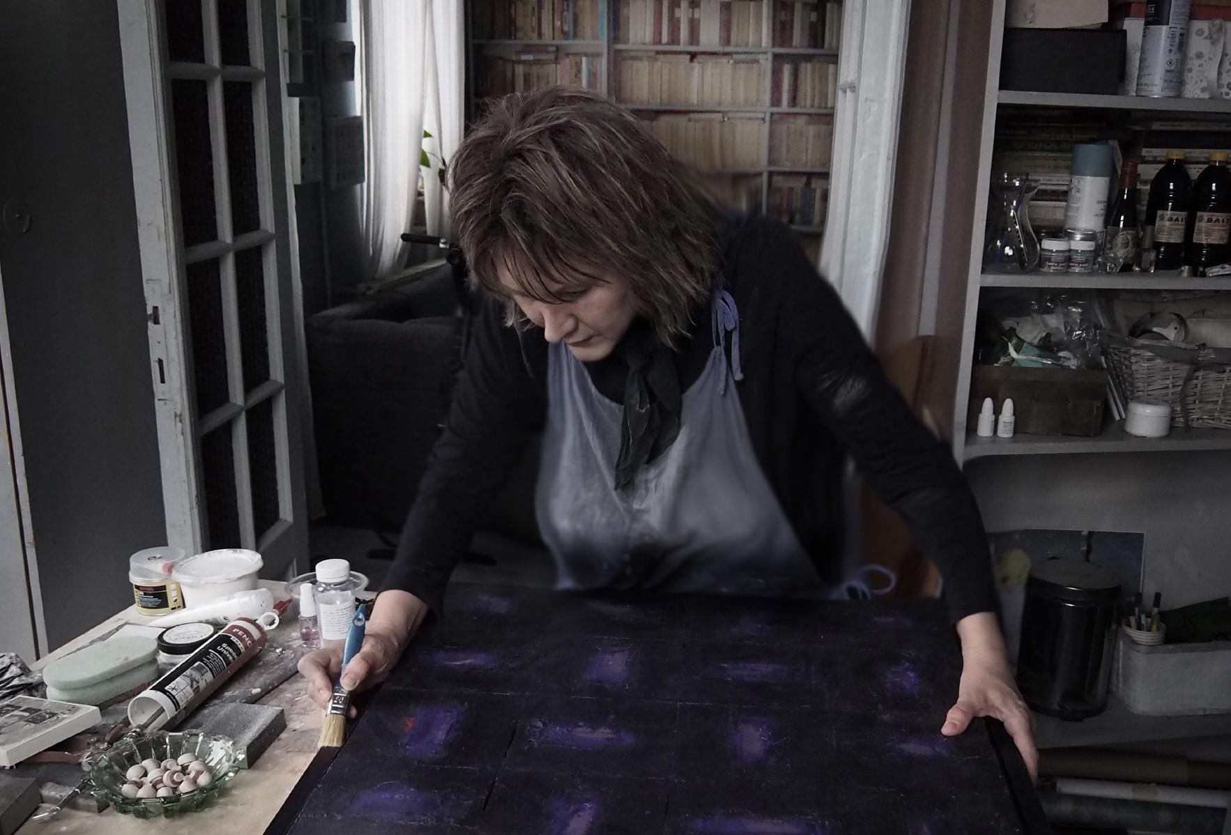 Ana-Maria Panaitescu - visiting artist's studio