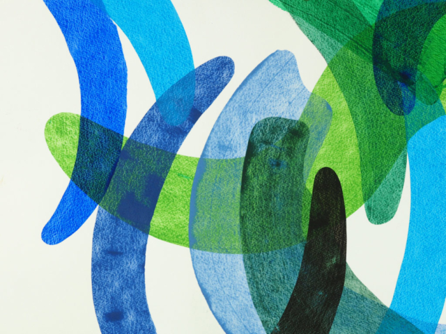 Robert Lardus abstract art on paper