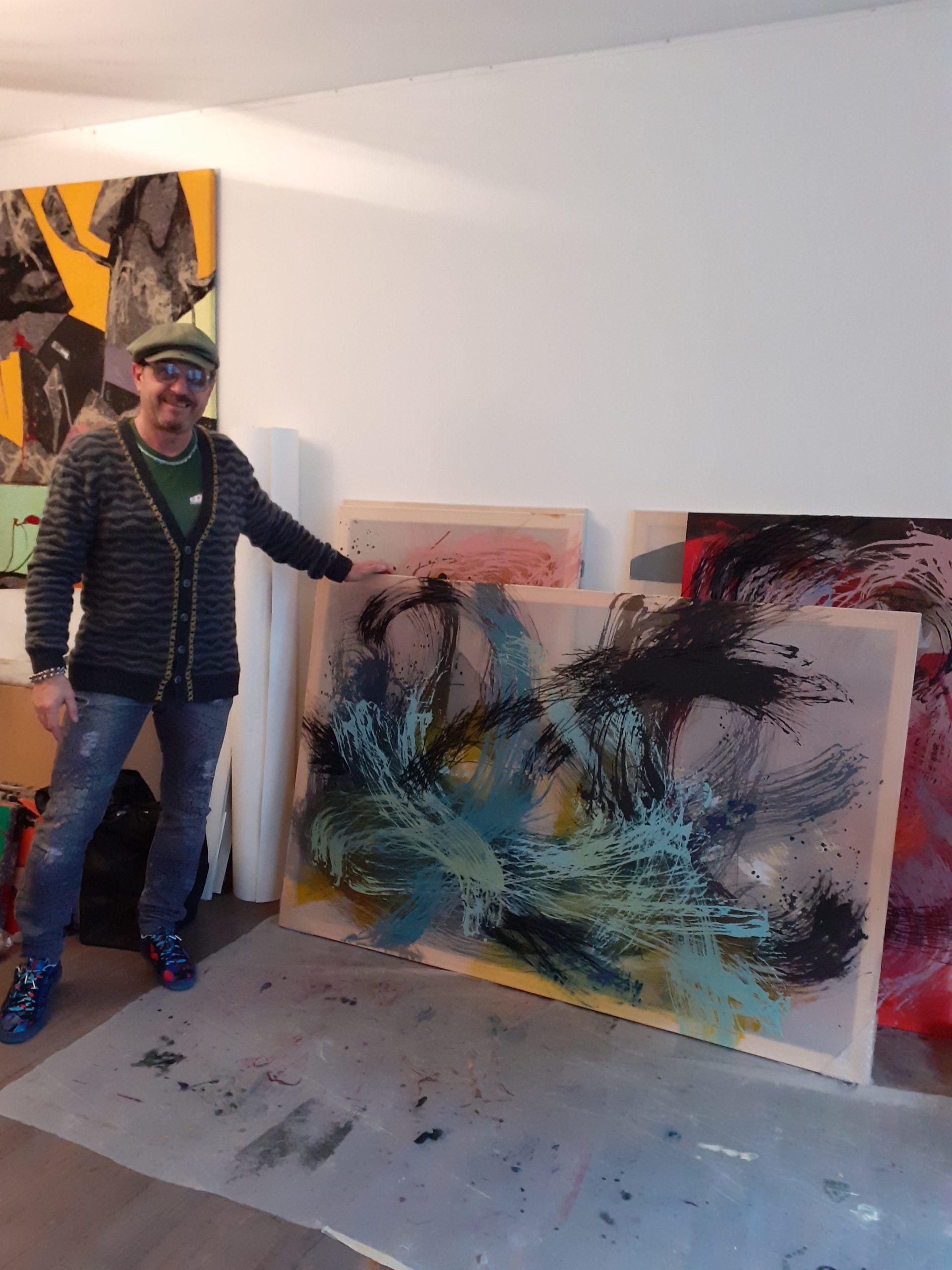 Tanya Angelova in her studio